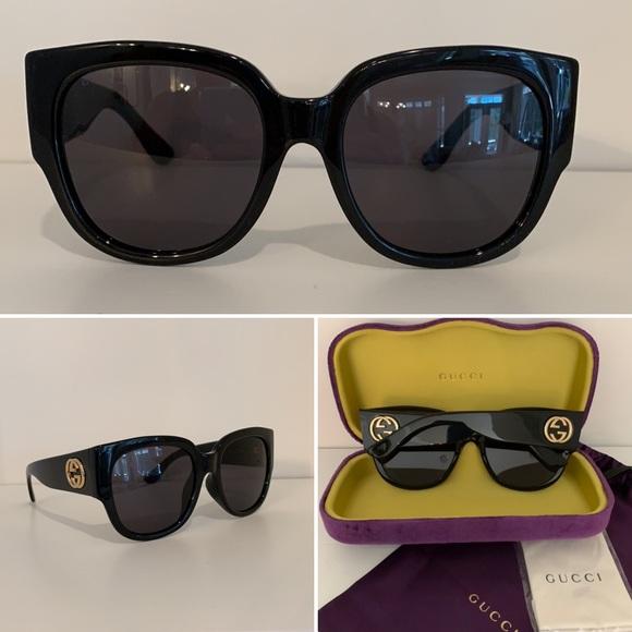 GUCCI - Oversized Black Sunglasses - GG0142SA 001  55x20-140